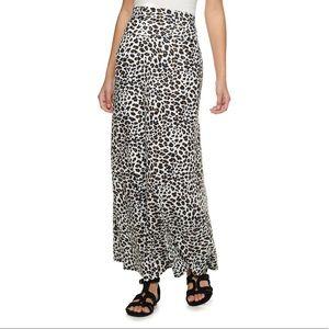 Joe B animal print knit maxi skirt
